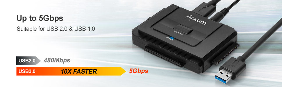 External Hard Drive Adapter USB 3.0 to 2.5 3.5 inch IDE SATA