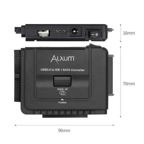 Hard Drive Adapter USB 3.0 to 2.5 3.5 inch IDE SATA Alxum