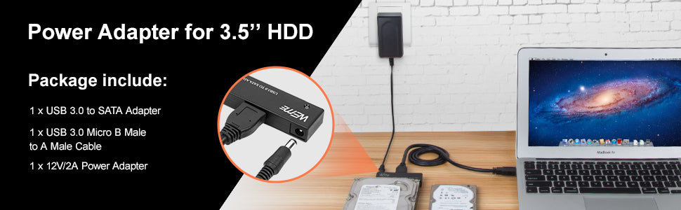 "Hard Drive USB Adapter USB 3.0 to 2.5""/3.5"" SATA"