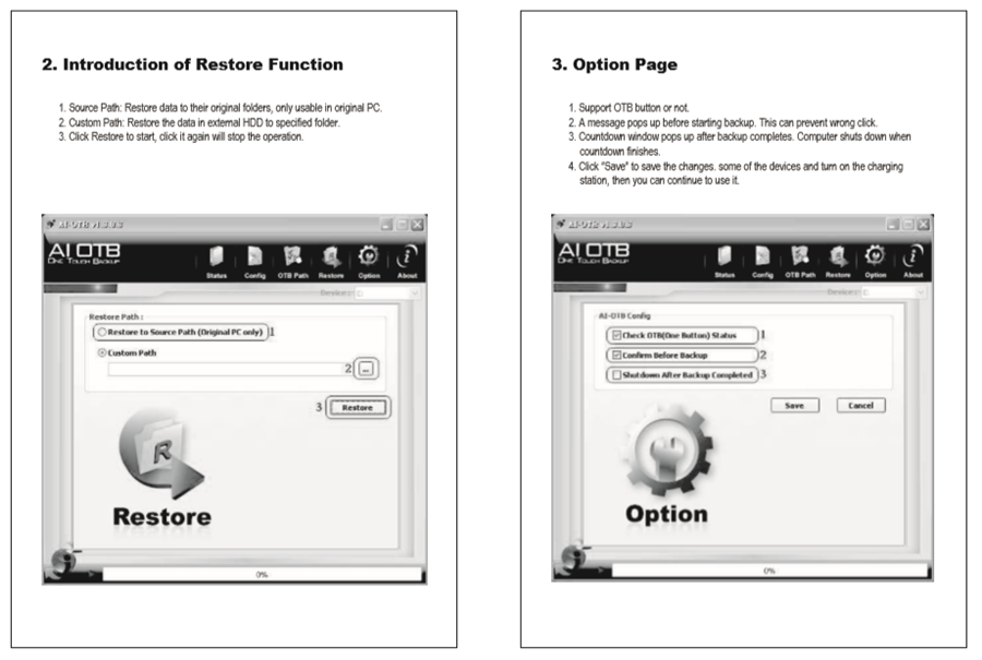 Introduction of Restore Function