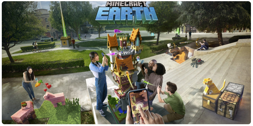 Microsoft releases an AR game for Pokemon Go Minecraft Earth