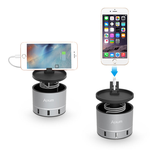 Nightstand USB Charging Stand 4 Ports for Apple Watch/iPhone