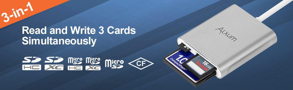 Type-C Card Reader for SD/TF/CF Card