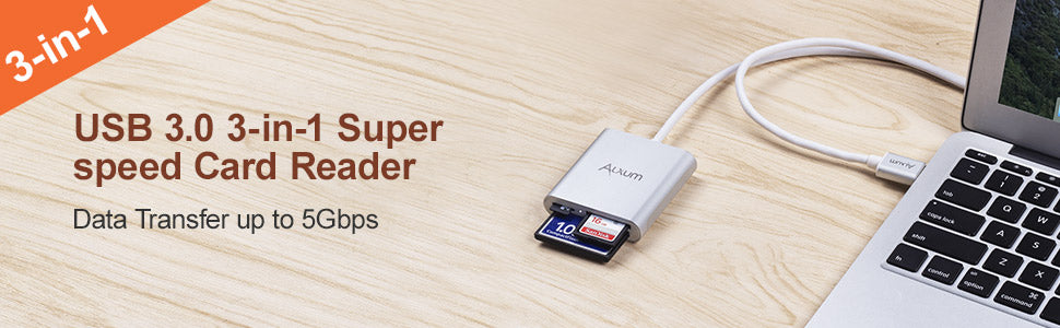 USB 3.0 Card Reader for CF/TF/SD Card (120CM)