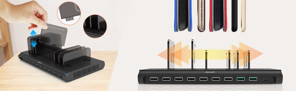 USB Charging Station 10 Ports With Type-C Port 120W