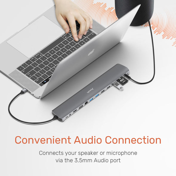 12-in-1 Dual Monitor USB C Hub