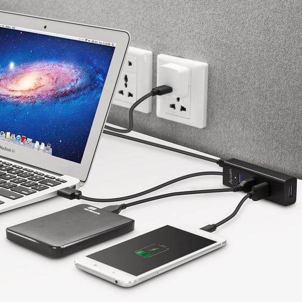 4-Port USB 3.0 Hub with Micro B Charging Port