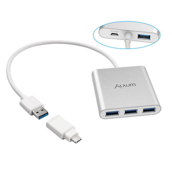 4-Port USB 3.0 Hub with Micro USB Charging Port