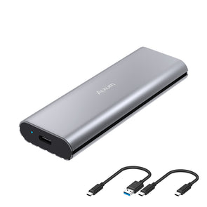 Aluminum M.2 NVME SSD Enclosure with USB Type A & C Cable