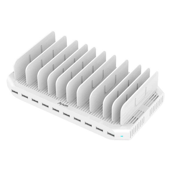 Alxum 10 Ports USB Charging Station 96W