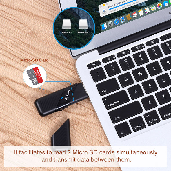 Card Reader USB 3.0 to Type C for Micro SD Card Alxum