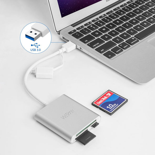 Compact Flash Card Reader USB 3.0 CF/SD/Micro SD Card Reader with OTG