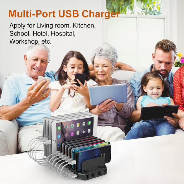 10 Ports Qualcomm Quick Charge 3.0 Charging Station 60W