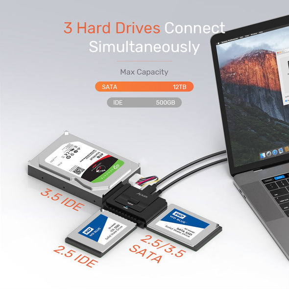 USB A IDE SATA Hard Drive Adapter