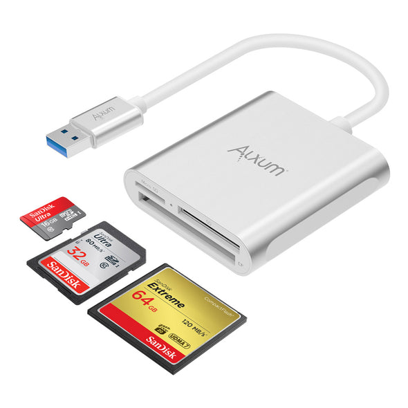 USB 3.0 Memory Card Reader  for SD, Micro SD, CF Card