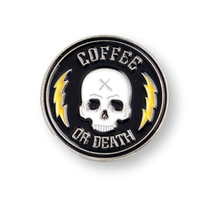 Coffee or Death Java Lovers Enamel Pin