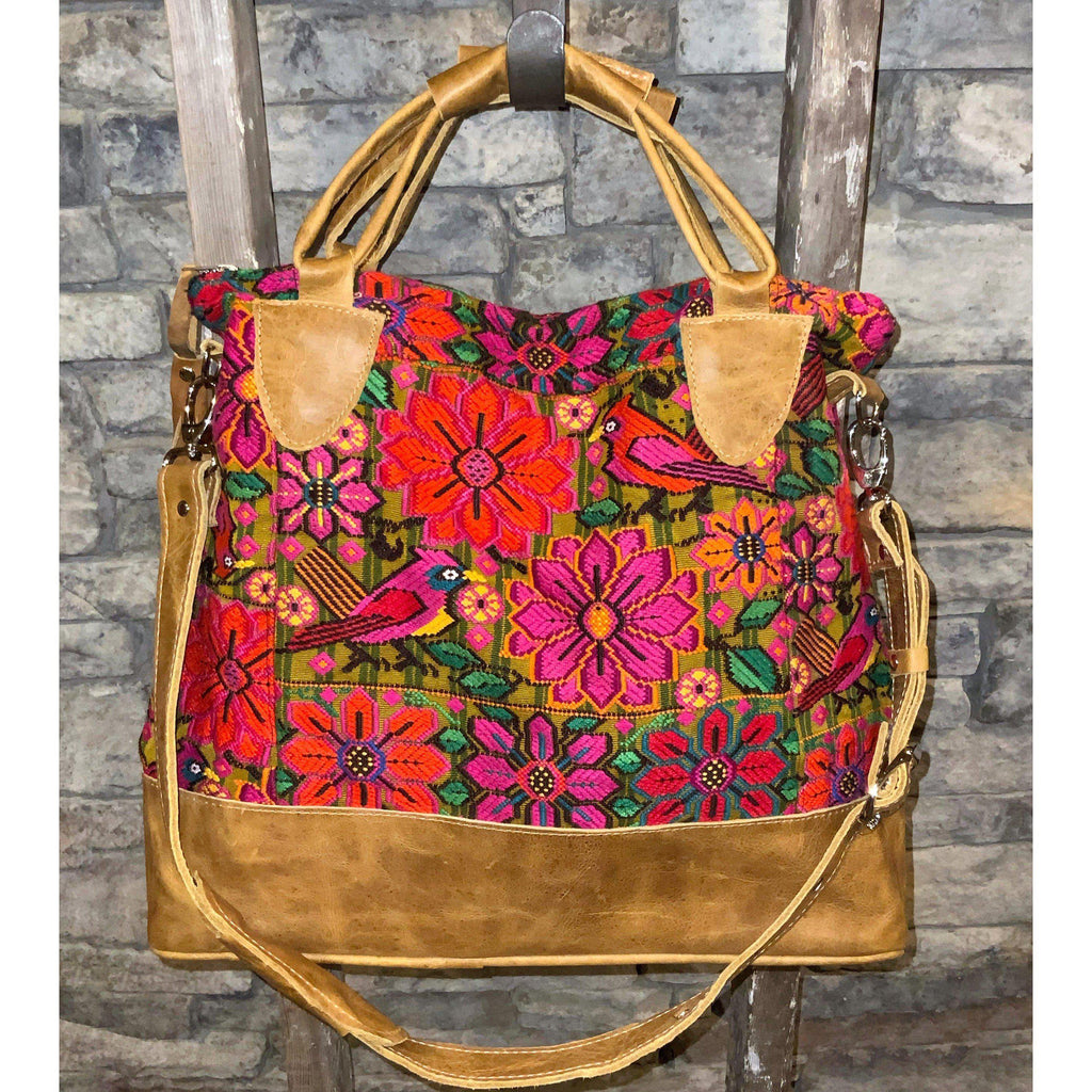 "Slouchy Huipil Commuter Tote ""Bliss"""