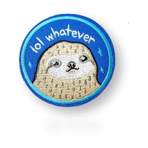Sassy Sloth Embroidered Patch