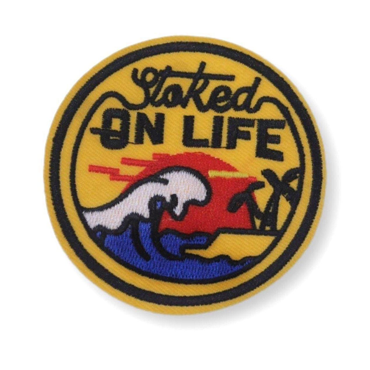 Stoked On Life Embroidered Patch
