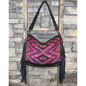 "Holden Next Gen Slouchy Fringed Day Bag ""Lucy""-Sabra & Sand"
