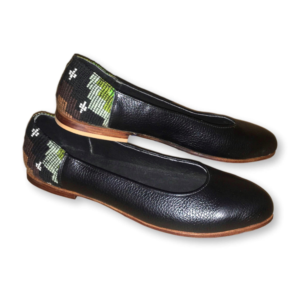 Moon & Stars Guatemalan Flats in Black *SELECT YOUR SIZE*