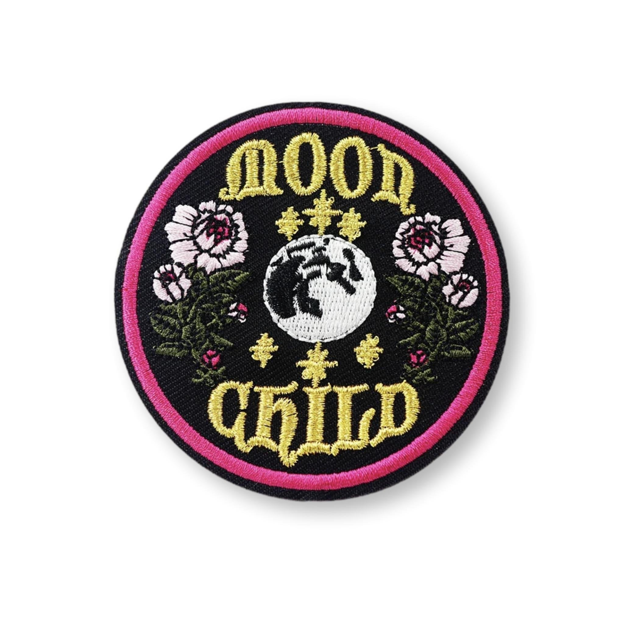 Moon Child Embroidered Patch