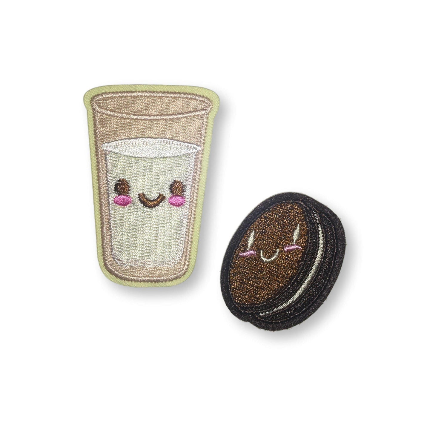 Cookies and Milk Embroidered Patch Set