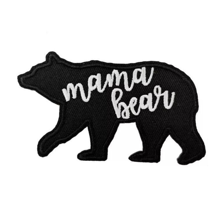 Mama Bear Embroidered Patch