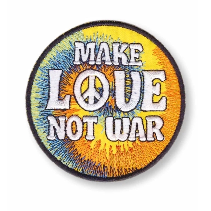 Make Love Not War Embroidered Patch