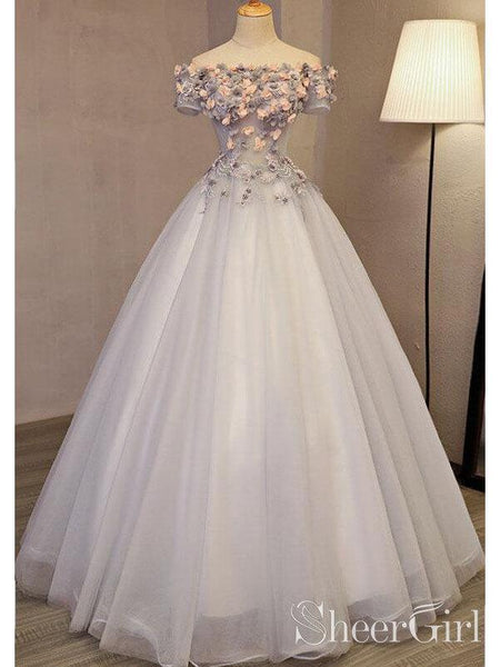 edeb596c9c Off the Shoulder Ball Gown Prom Dresses Long Princess Cute Quinceanera Dress  ARD1991-SheerGirl