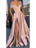 Off the Shoulder Cheap Prom Dresses with Pockets and Slit ARD2245-SheerGirl