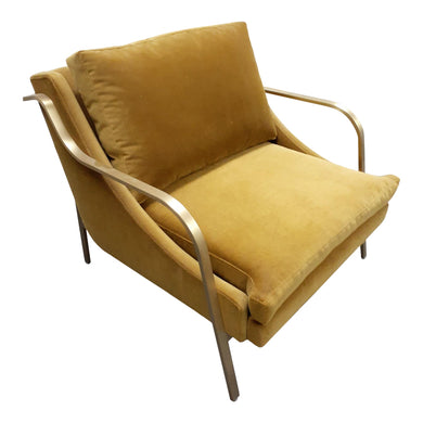 Modern Lydia Brass Lounge Chair