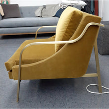 Load image into Gallery viewer, Modern Lydia Brass Lounge Chair