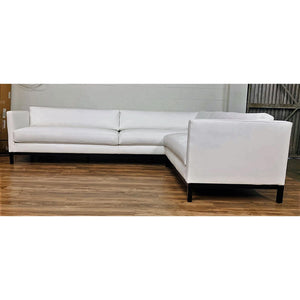 Modern Shane White Leather Sectional