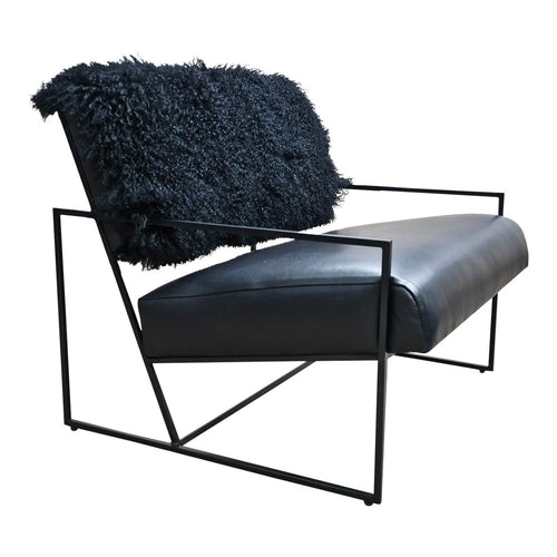 Modern Barracuda Faux Fur Lounge Chair