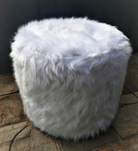 Load image into Gallery viewer, Seed Slipcover Fur Ottoman