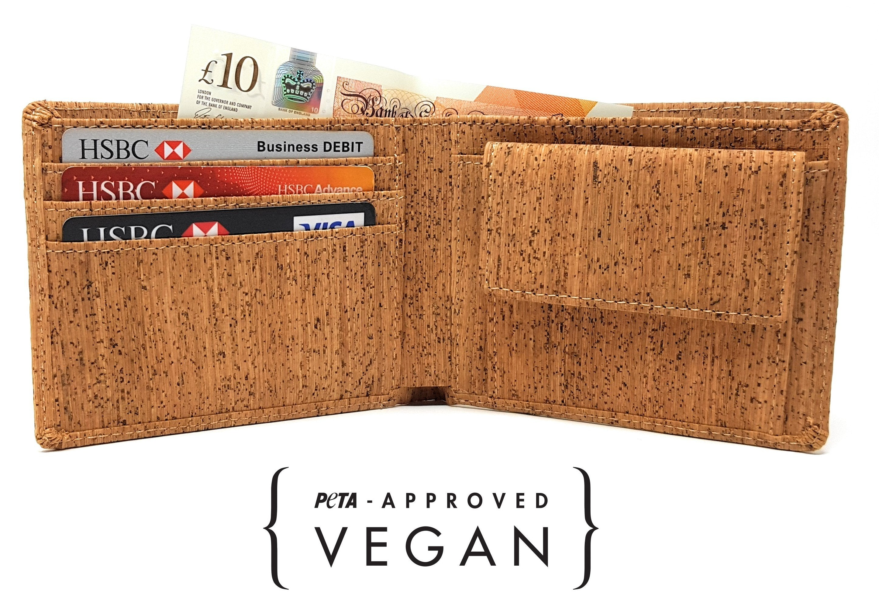 Vegan Wallet with Coin Pocket