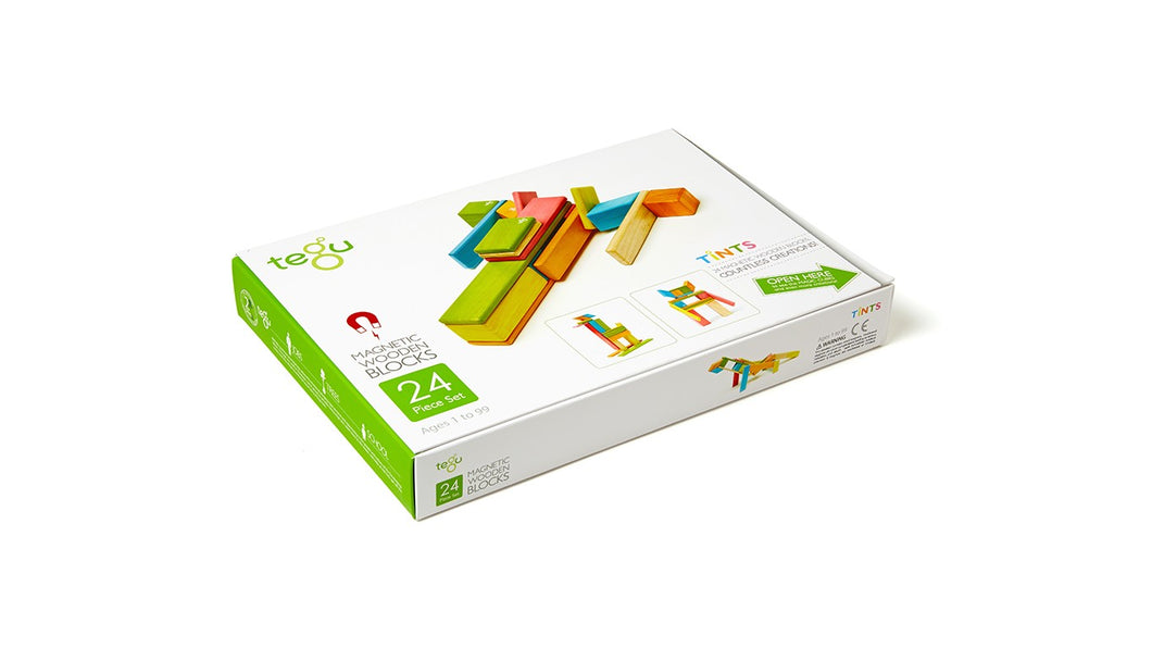 Magnetic Wooden Blocks - 24 Piece Set