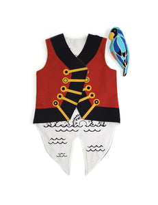 Pirate Vest with Removable Parrot