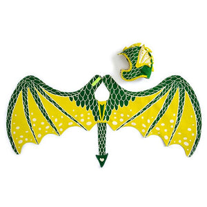 Green Dragon Cap and Wing Set