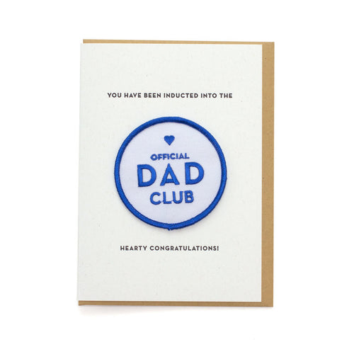 Dad Club Card and Patch