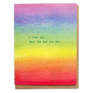 Little Lark - Rainbow Love Card, I like you