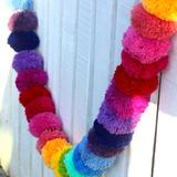 Load image into Gallery viewer, Giant Rainbow 10 ft Pom Pom Garland