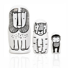 Load image into Gallery viewer, Set of 3 Nesting Dolls – WILD Animals