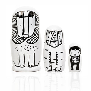 Set of 3 Nesting Dolls – WILD Animals