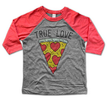 Load image into Gallery viewer, True Love Pizza Baseball Tee