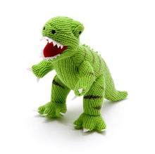 Load image into Gallery viewer, Terry The Knitted Green TRex Dinosaur