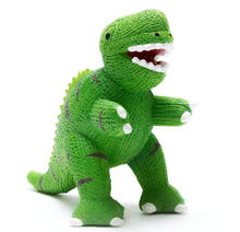 Load image into Gallery viewer, Natural Rubber Dinosaur Teether And Bath Toys