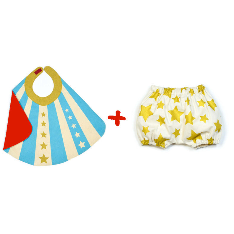 Blue Baby Hero Cape and Bloomer