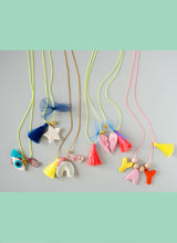 Load image into Gallery viewer, TEXT FELT CHARM NECKLACE KIT